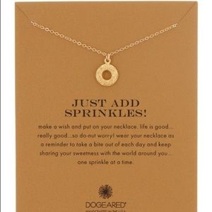 Dogeared just add sprinkles donut necklace